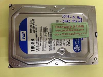 Khôi phục dữ liệu ổ cứng Western 160GB