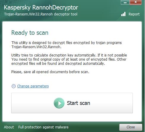 Virus đổi đuôi file thành crypt