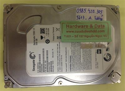 Lấy lại dữ liệu ổ cứng Seagate 500GB