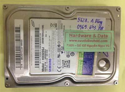 Lấy lại dữ liệu ổ cứng Samsung 320GB