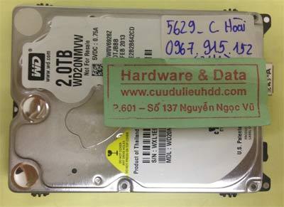 Lấy lại dữ liệu ổ cứng Western 2TB
