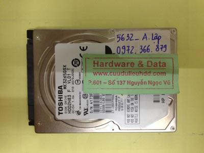 Lấy lại dữ liệu ổ cứng Toshiba 320GB
