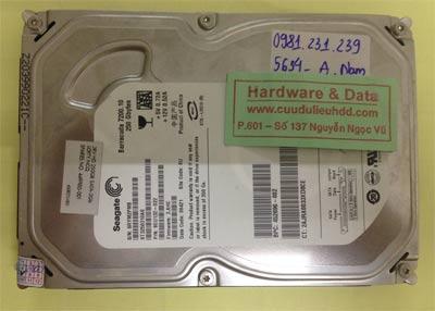 Cứu dữ liệu ổ cứng Seagate 250GB
