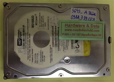 Phục hồi dữ liệu ổ cứng Western 160GB