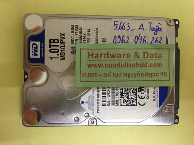 Cứu dữ liệu ổ cứng Western 1TB