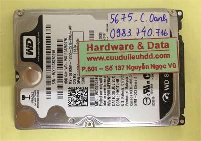 Cứu dữ liệu ổ cứng Western 320GB