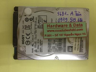 Khôi phục dữ liệu ổ cứng Hitachi 500GB