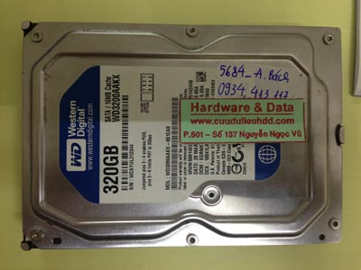 Khôi phục dữ liệu ổ cứng Western 320GB