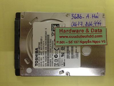 Lấy lại dữ liệu ổ cứng Toshiba 1TB