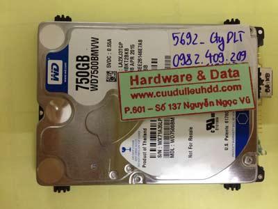 Phục hồi dữ liệu ổ cứng Western 750GB