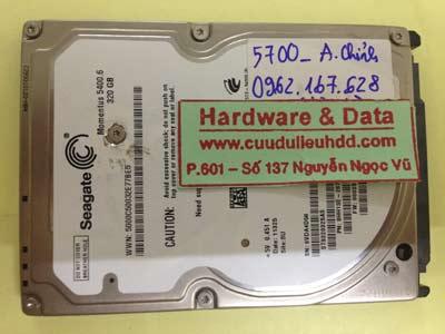 Phục hồi dữ liệu ổ cứng Seagate 320GB