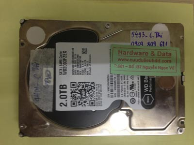 Lấy dữ liệu ổ cứng Western 2TB