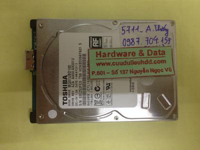 Cứu dữ liệu ổ cứng Toshiba 1TB