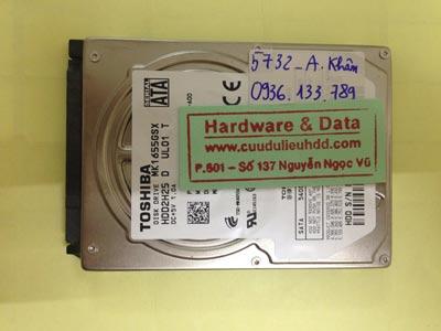 Khôi phục dữ liệu ổ cứng Toshiba 160GB