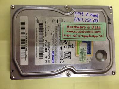 Lấy dữ liệu ổ cứng Samsung 160GB