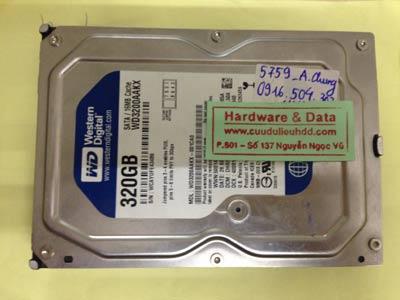 Phục hồi dữ liệu ổ cứng Western 320GB