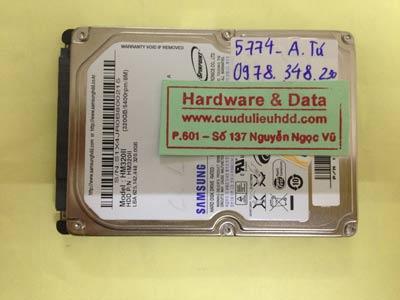 Phục hồi dữ liệu ổ cứng Samsung 320GB