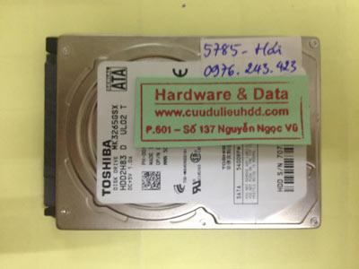 Cứu dữ liệu ổ cứng Toshiba 320GB