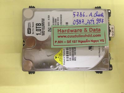 Phục hồi dữ liệu ổ cứng Western 1TB