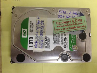 Lấy dữ liệu ổ cứng Western 1TB chết cơ