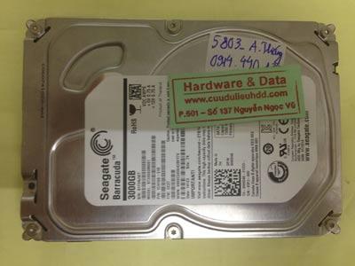 Cứu dữ liệu ổ cứng Seagate 3TB