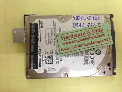 Khôi phục dữ liệu ổ cứng Seagate 500GB