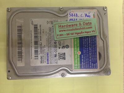 Lấy dữ liệu ổ cứng Samsung 80GB