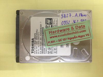 Khôi phục dữ liệu ổ cứng Toshiba 1TB