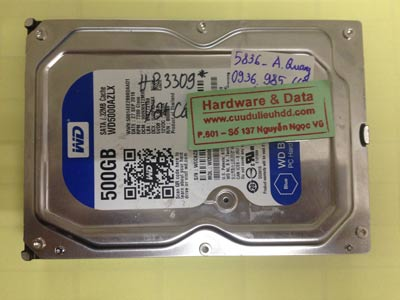 Lấy dữ liệu ổ cứng Western 500GB