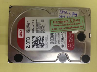 Cứu dữ liệu ổ cứng Western 2TB