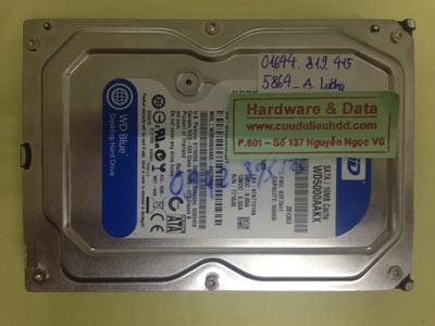 Phục hồi dữ liệu ổ cứng Western 500GB