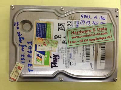 Phục hồi dữ liệu ổ cứng Samsung 160GB