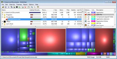 công cụ thống kê dung lượng ổ cứng