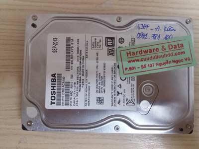 phục hồi dữ liệu Toshiba 1TB