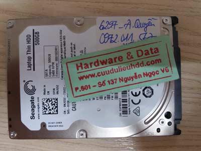 Recover dữ liệu samsung 500GB