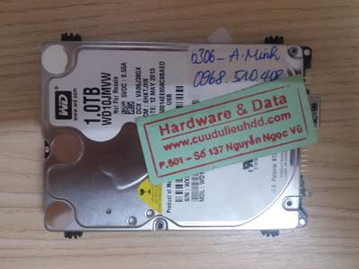 cứu data HDD Western 1TB