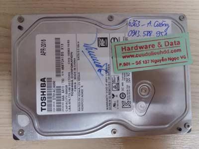 Khôi phục dữ liệu Toshiba 500GB