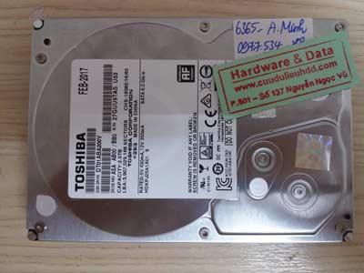 Khôi phục dữ liệu Toshiba 2TB