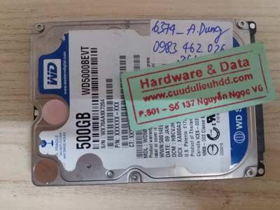 lấy lại dữ liệu WD 500GB