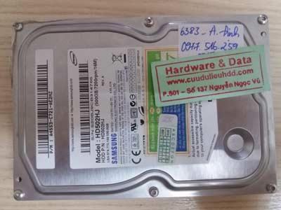 khôi phục dữ liệu Samsung 500GB