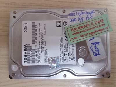lấy lại data Toshiba 500GB