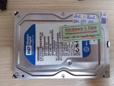 Lây lại dữ liệu -WD500GB