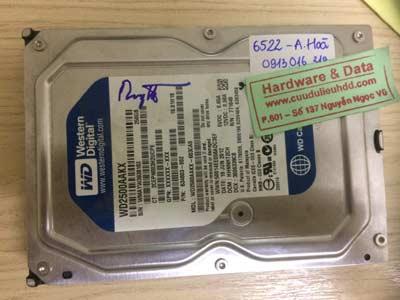 Khôi phục data-Western-500GB