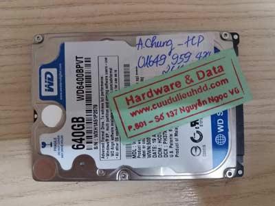 Cứu dữ liệu WD 640GB