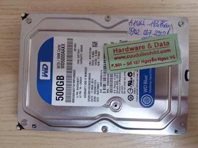 Khôi phục data HDD WD-500GB
