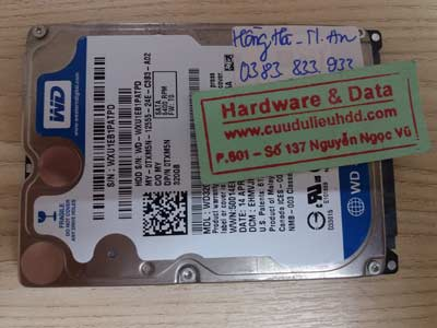 Recover dữ liệu WD-320GB