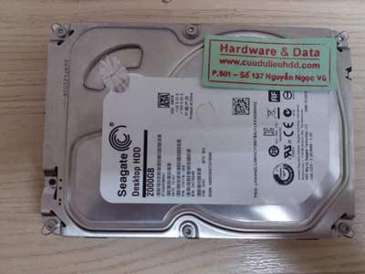 Khôi phục ổ cứng seagate-2000GB