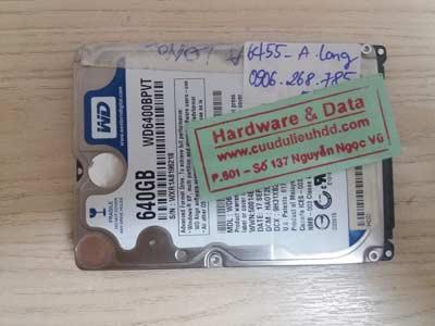 Phục hồi data-WD-640GB