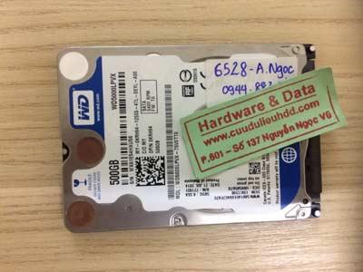 phục hồi dữ liệu-Western-500GB