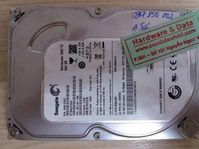 recover dữ liệu seagate-500GB